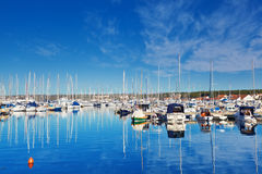 Jachthafen in Biograd, Kroatien lizenzfreie stockbilder