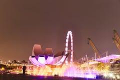 JACHTHAFEN-BUCHT, SINGAPUR 17 03 2019: Stadtbild des Singapur-Geschäfts, das Singapur-Stadt errichtet stockbild