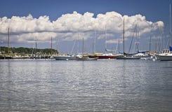 Jachthafen-Cape Cod Stockfoto