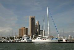 Jachthafen in Corpus Christi, Texas Stockfotos