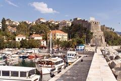 Jachthafen der Stadt Herceg Novi - Montenegro Lizenzfreies Stockfoto