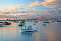 Jachthafen der Williams-Stadt, Melbourne stockbild