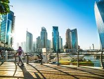 Jachthafen Dubai Stockfotografie