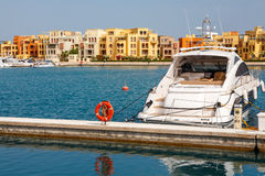 Jachthafen. EL Gouna, Ägypten Lizenzfreies Stockbild