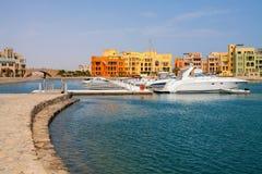 Jachthafen. EL Gouna, Ägypten Stockbilder