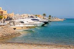 Jachthafen. EL Gouna, Ägypten Lizenzfreie Stockfotos