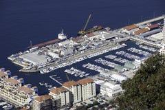 Jachthafen gesehen von oben Stockfotografie