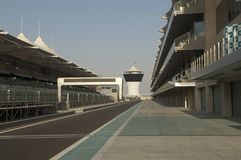 Jachthafen großartiges Prix DHABI-, UAE Yas Stockbilder