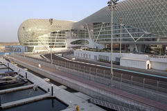 Jachthafen großartiges Prix DHABI-, UAE Yas Stockfotos