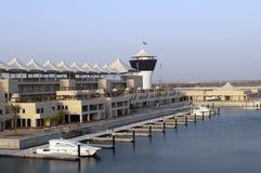 Jachthafen großartiges Prix DHABI-, UAE Yas Stockfotografie