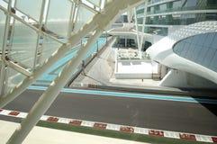 Jachthafen großartiges Prix DHABI-, UAE Yas Lizenzfreie Stockbilder