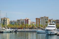 Jachthafen im Hafen Vell am 13. April 2009 in Barcelona Lizenzfreies Stockfoto