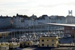 Jachthafen im Norden von Spanien Stockfotos