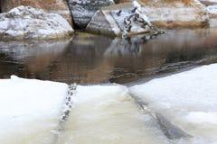 Jachthafen im Winter Stockfotos