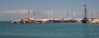 Jachthafen in Kemer, die Türkei. lizenzfreies stockfoto