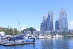 Jachthafen an Keppel-Bucht Singapur Lizenzfreie Stockfotos