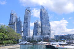 Jachthafen an Keppel-Bucht Singapur Stockfoto