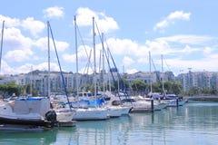 Jachthafen an Keppel-Bucht Singapur Lizenzfreies Stockfoto