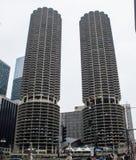 Jachthafen-Kontrolltürme in Chicago stockfotos