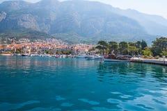 Jachthafen in Makarska kroatien Stockbild