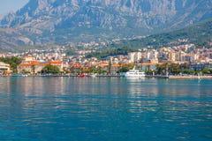 Jachthafen in Makarska kroatien Lizenzfreie Stockbilder