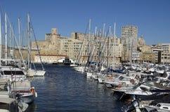 Jachthafen in Marseille, Frankreich Stockbilder