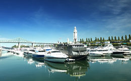 Jachthafen in Montreal Stockfotos