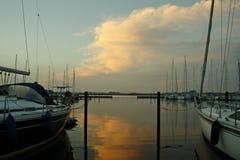 Jachthafen morgens Stockfotografie