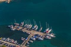 Jachthafen Murter Antenne Lizenzfreie Stockfotografie
