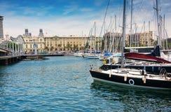 Jachthafen PortVell in Barcelona Stockbild