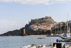 Jachthafen in Sardinien stockbild