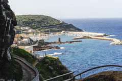 Jachthafen in Sardinien Stockfotos