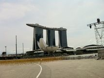 Jachthafen-Schacht Singapur stockfotografie