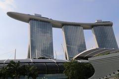 Jachthafen-Schacht versandet Hotel in Singapur Lizenzfreies Stockfoto