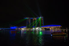 Jachthafen-Schacht versandet Hotel Singapur Stockfoto