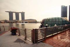 Jachthafen-Schacht versandet Singapur Stockfotografie