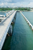 Jachthafen-Schwall Singapur lizenzfreies stockfoto