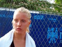Jachthafen Shamayko (RUS) Tennisspieler Lizenzfreie Stockbilder
