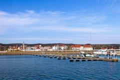 Jachthafen in Sopot Stockbilder