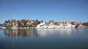 Jachthafen in Sotogrande, Spanien Stockbild