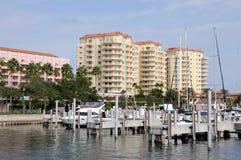 Jachthafen in St Petersburg, Florida Lizenzfreies Stockbild