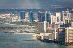 Jachthafen und Erholungsorte Waikiki Lizenzfreies Stockfoto