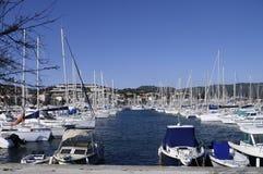 Jachthafen von Bandol auf französischem Riviera, Frankreich Stockbilder
