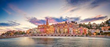 Jachthafen von Menton, Frankreich lizenzfreie stockbilder