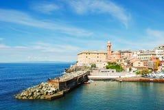 Jachthafen von Nervi, ein Bezirk von Genua Lizenzfreie Stockfotos