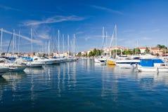 Jachthafen von Porec Lizenzfreie Stockfotos