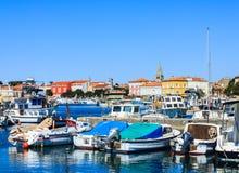 Jachthafen von Porec auf Istria-Halbinsel, Kroatien lizenzfreie stockfotos