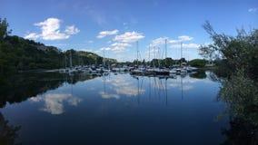 Jachthafen von Scarbourough täuscht Park lizenzfreies stockbild