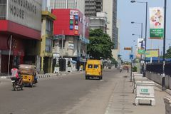 Jachthafen, zentrales Geschäftsgebiet Lagos, Lagos, Nigeria lizenzfreie stockfotografie