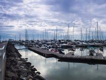 Jachthafenbucht in Pattaya, Thailand Stockfotografie